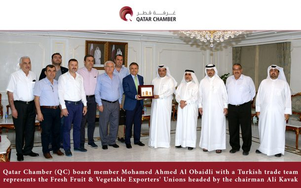 A team from Fresh Fruit & Vegetable Exporters' Unions visits the Chamber