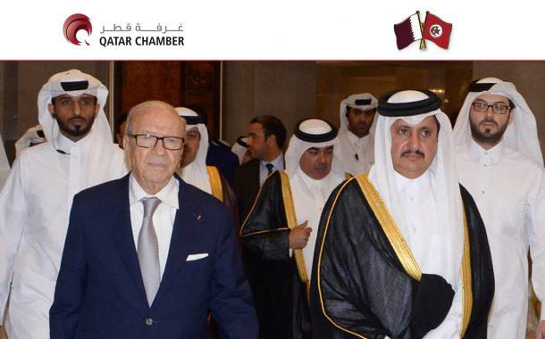 Tunisian President meets Qatari businessmen