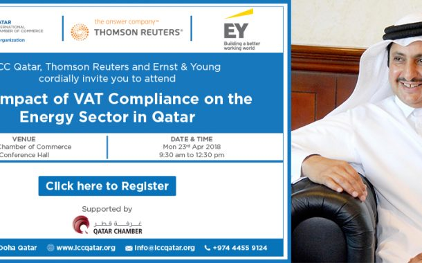 """""""The Impact of VAT Compliance on the Energy sector in Qatar"""" seminar to kick off at QC on April 23"""
