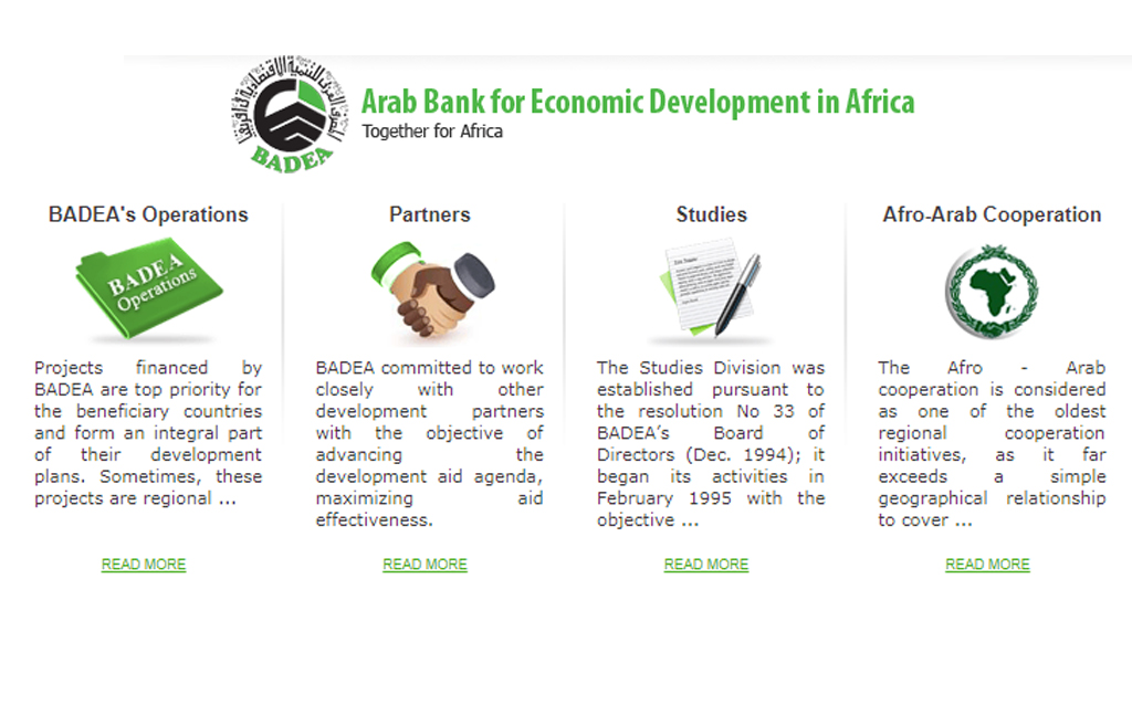 Arab Bank for Economic Development in Africa (BADEA) tenders