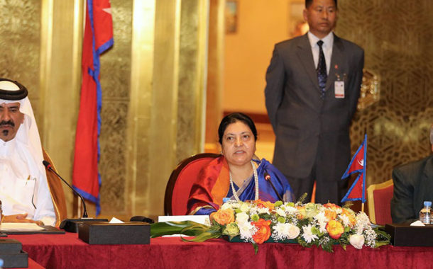 Nepal's president urges Qatari companies to invest in her country