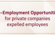 Re-Employment opportunities for private companies expelled employees