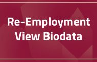 Re-Employment | View Biodata