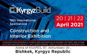 18th international Construction & Interior Exhibition @ Arena of KSAPES, 97, Akhunbaev str.,