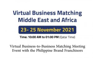 Virtual Business Matching Middle East and Africa @ ONLINE FORMAT