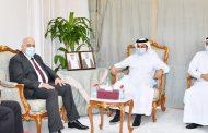رئيس الغرفة يجتمع مع وزيري العمل الفلسطيني والمصري